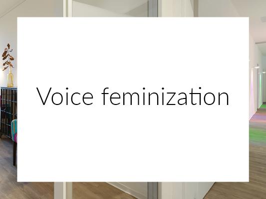 Voice feminization