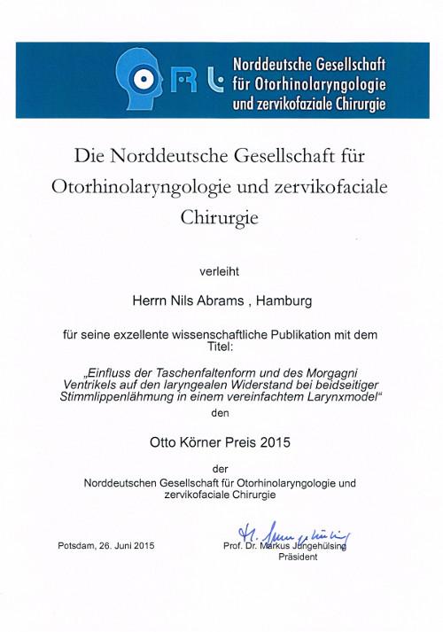Award Otto Koerner Abrams