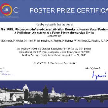 Award Rugheimer Poster-prize