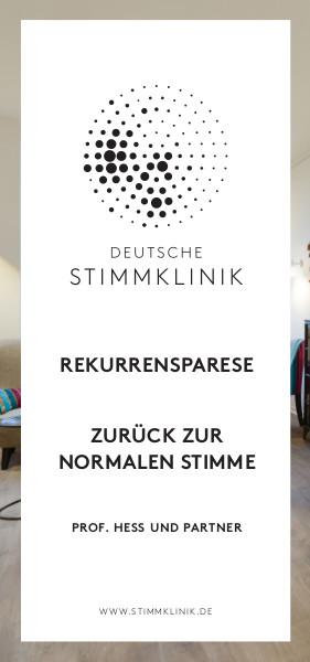 Flyer REKURRENSPARESE DEUTSCHE STIMMKLINIK