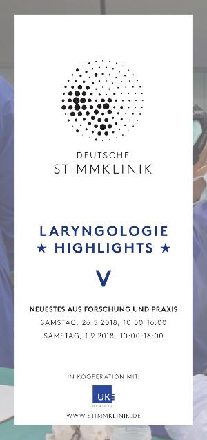Laryngologie HIGHLIGHTS DEUTSCHE STIMMKLINIK