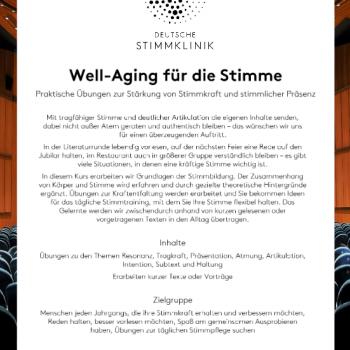 Well-Aging für die Stimme - MEDICAL VOICE CENTER