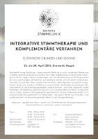 Flyer Kurs Haupt MEDICAL VOICE CENTER