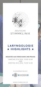 Flyer Larongologie Highlights MEDICAL VOICE CENTER