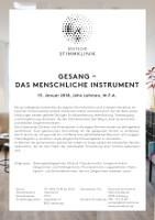Flyer Kurs Lehman MEDICAL VOICE CENTER