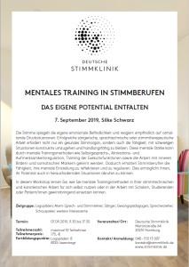 Silke Schwarz Mentales Training in Stimmberufen