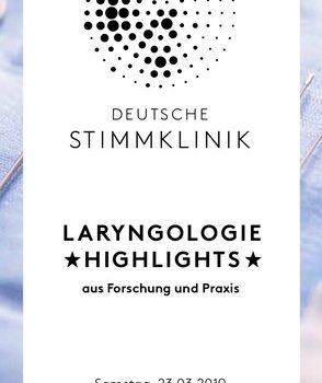 Flyer LARYNGOLOGIE *Highlights*